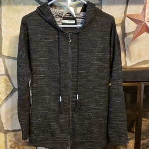 Maurices zipper front hoodie Size L